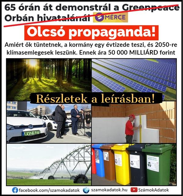 "Another cheap left-liberal propaganda: ""demonstrates for 65 hours at Greenpeace Orbán's office"""