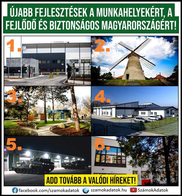 New developments for jobs, a developing and safe Hungary!