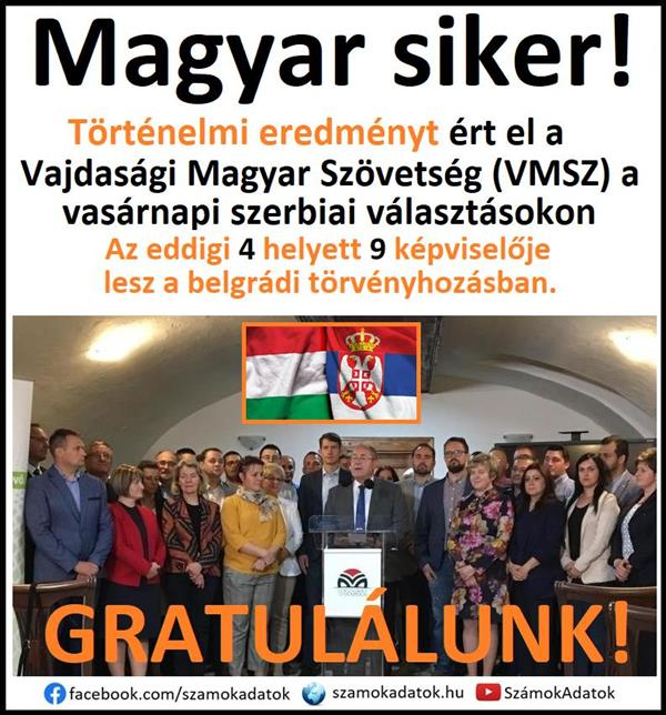 Hungarian success!  The VMSZ achieved a historic result in the Serbian elections!