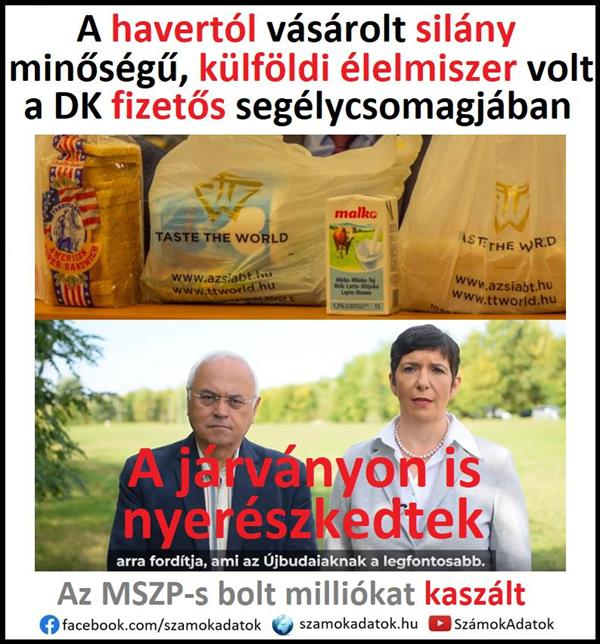 There was poor quality foreign food in the paid aid package of DK in Újbuda