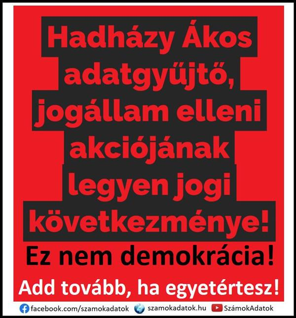Ákos Hadházy's data collector's action against the rule of law should have legal consequences!