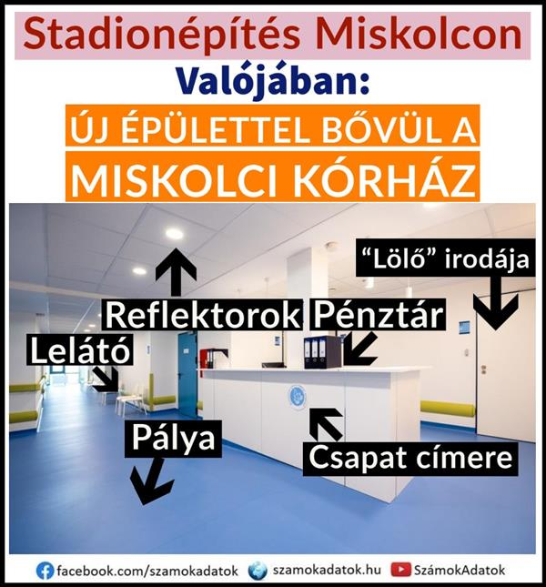 "Instead of ""stadium construction in Miskolc"": a new building will be added to the hospital in Miskolc"