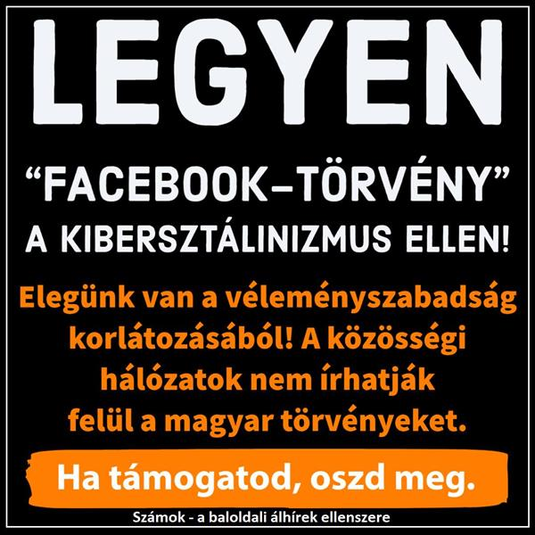 "Let there be a ""Facebook law"" against cyberstalinizm!"