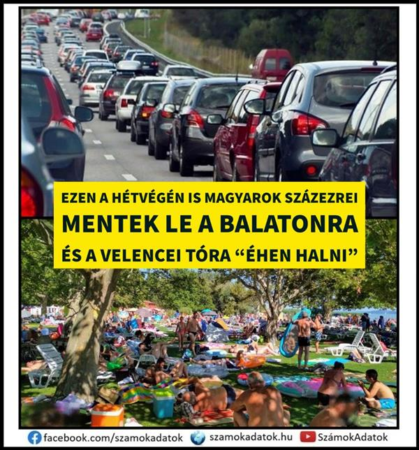 Hundreds of thousands of Hungarians went down to Balanton this weekend as well