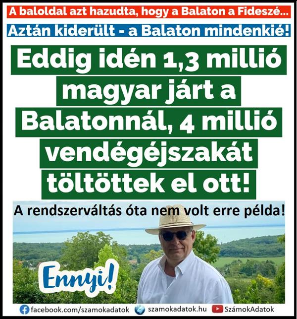 Since the change of regime, they haven't had as many holidays on Lake Balaton as this year!