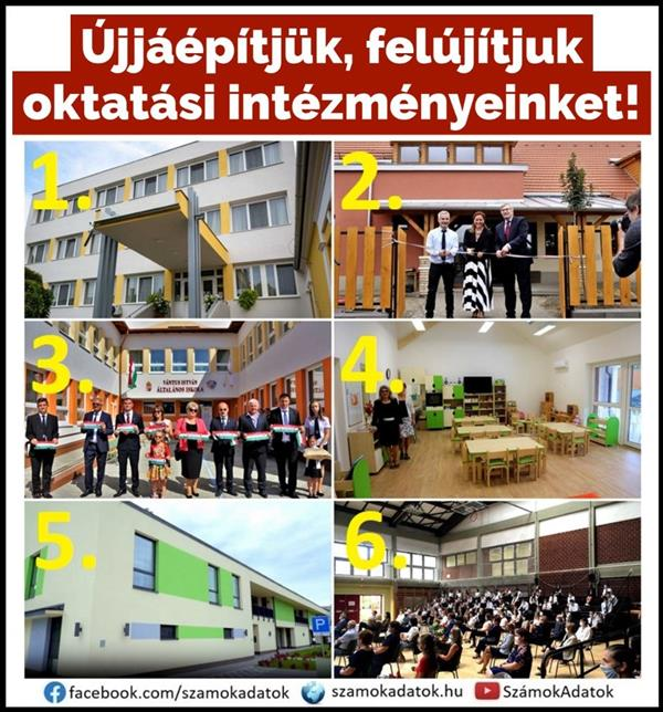 We are rebuilding and renovating our educational institutions!