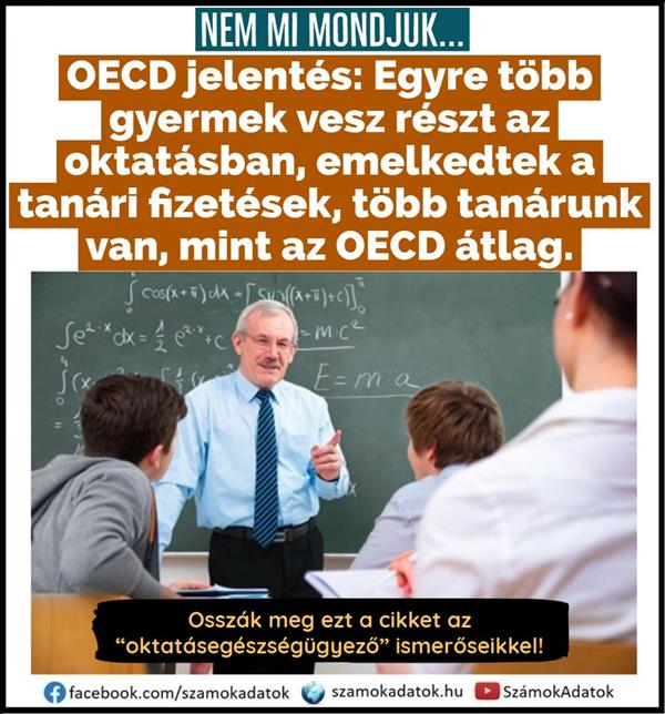 OECD report: More and more children are participating in education, teacher salaries have risen, we have more teachers than the OECD average