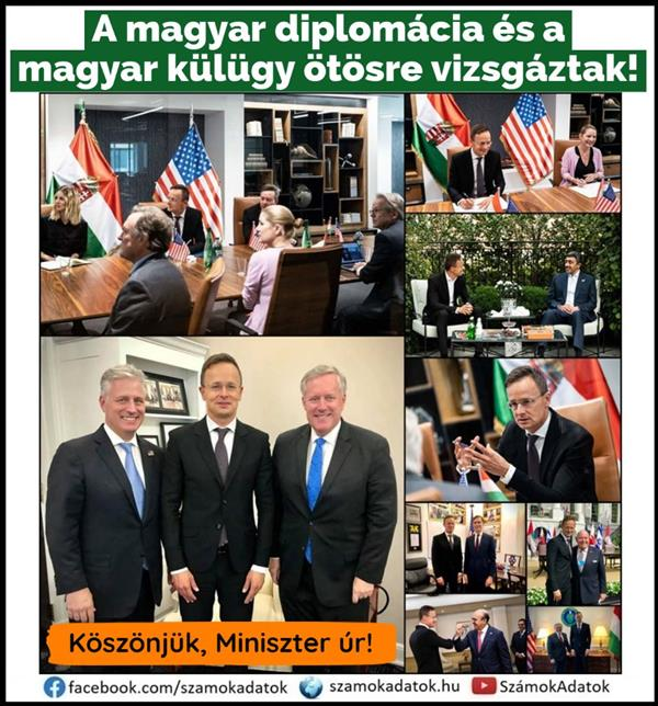 Hungarian diplomacy and Hungarian foreign affairs have passed the five!