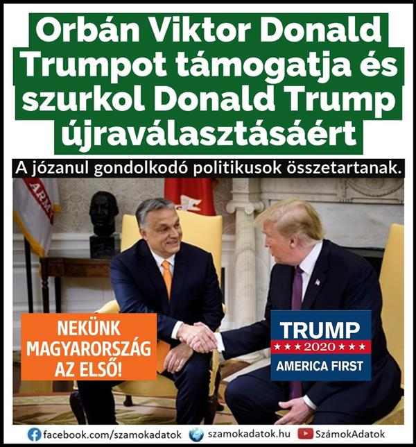 Viktor Orbán supports Donald Trump for his re-election