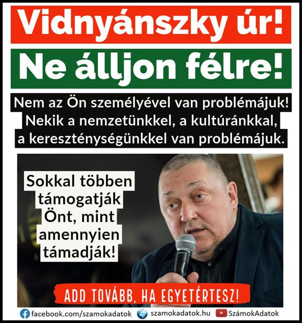 Mr. Vidnyánszky - You can't stand aside!