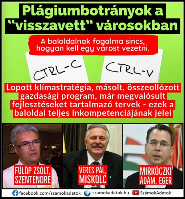 Plagiarism municipality in Szentendre, copied, stolen or unfinished economic programs in Miskolc, Érd and Tatabánya
