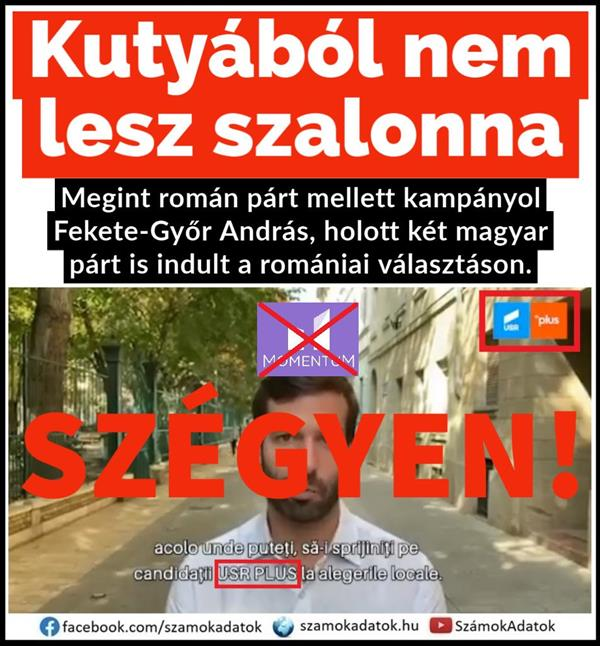 András Fekete-Győr, the leader of the anti-Hungarian Momentum, is again campaigning for a Romanian party.  (with video!)