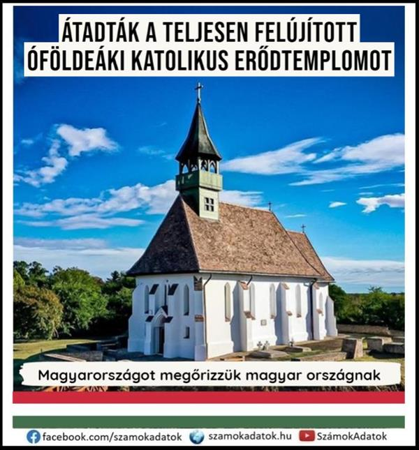 The completely renovated Óföldeák Catholic fortress church was handed over (with video)