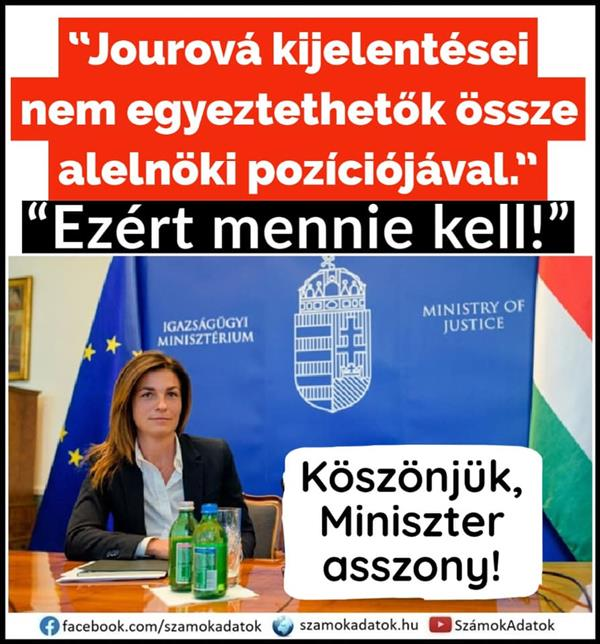 Vice-President Jourová insulted Hungary, insulted all Hungarians