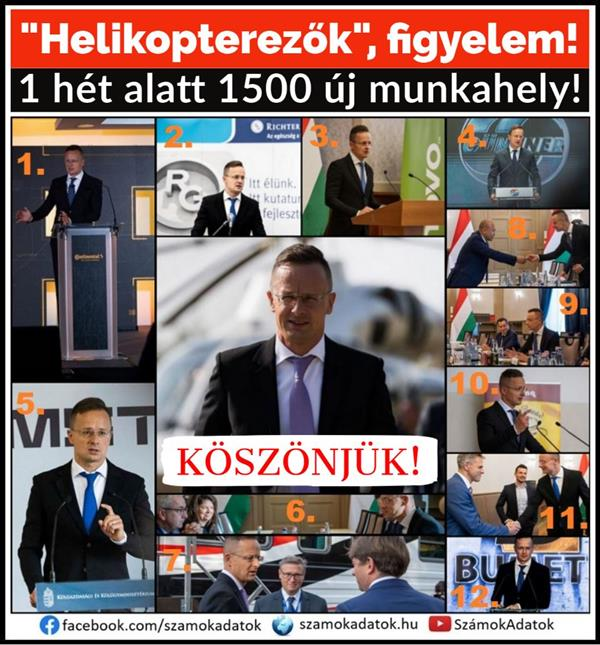 In one week, Péter Szijjártó announced 1,500 new jobs and discussed the protection of thousands of jobs.