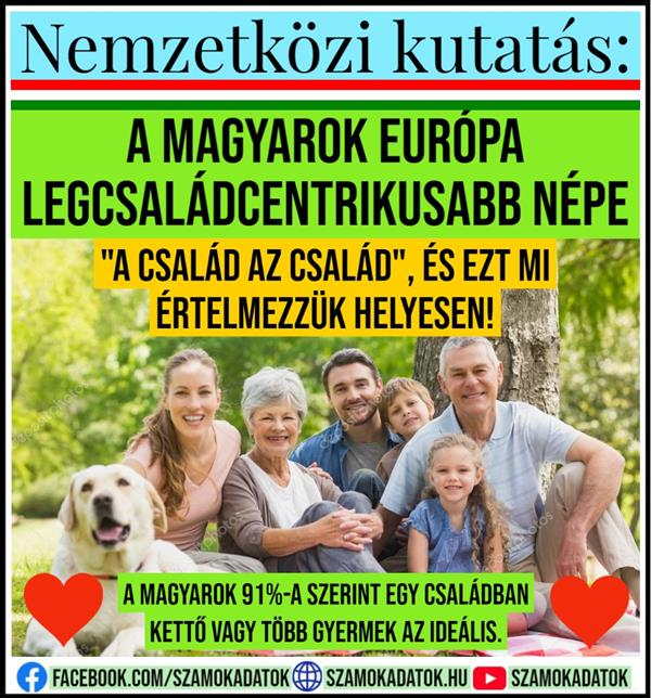 International research: Hungarians are the most family-centric people in Europe!