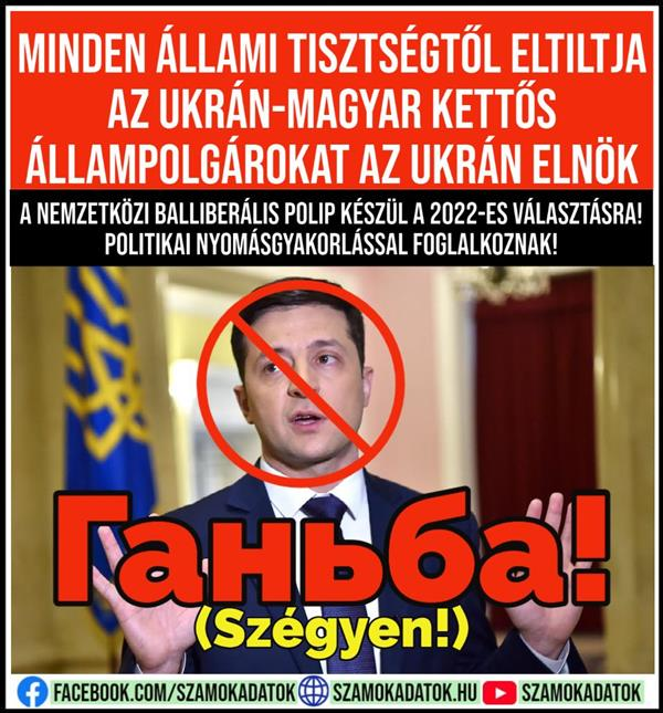 The Ukrainian president bans Ukrainian-Hungarian dual citizens from all public office!