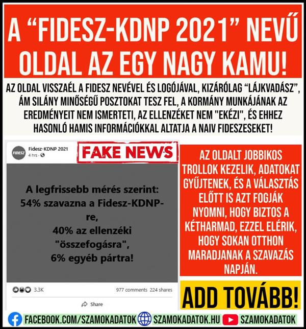 "The site called ""Fidesz-KDNP 2021"" is a big sham!"