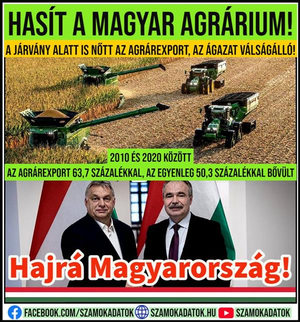 Hungarian agriculture is faster than even!