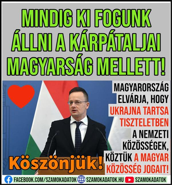 """We will always stand by the Hungarians of Transcarpathia"" / Péter Szijjártó / - with video"