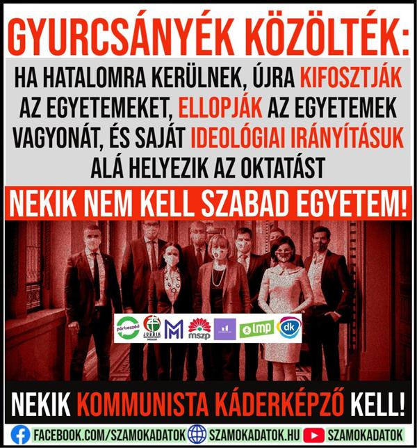 Gyurcsány team said: If they come to power, they will plunder the universities again