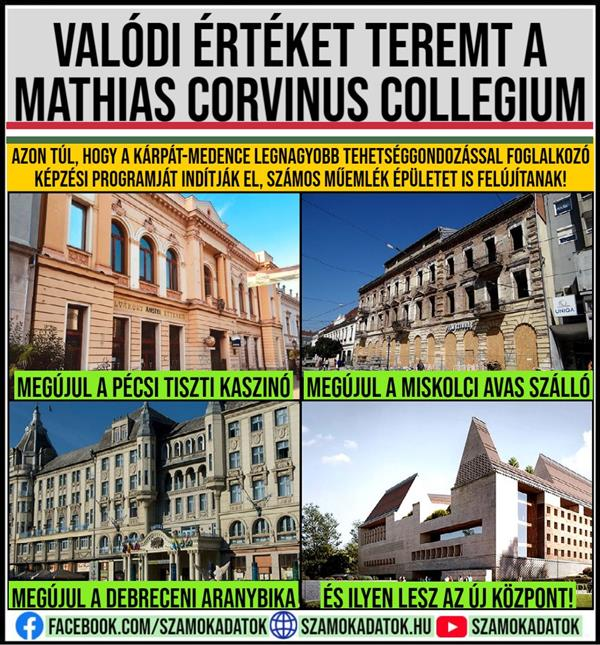 Mathias Corvinus Collegium creates real value!